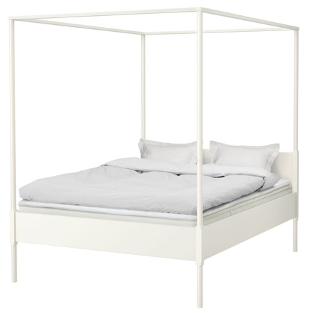 White-ikea-bed